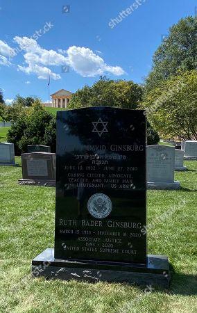 Editorial image of Ruth Bader Ginsburg newly engraved headstone, Washington DC, USA - 12 Sep 2021