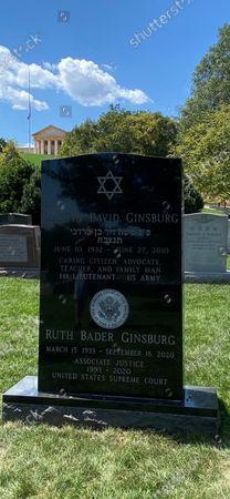 Editorial photo of Ruth Bader Ginsburg newly engraved headstone, Washington DC, USA - 12 Sep 2021