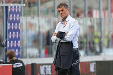 AC Milan's technical director Paolo Maldini before the Italian Serie A soccer match AC Milan vs SS Lazio at the Giuseppe Meazza Stadium in Milan, Italy, 12 September 2021.