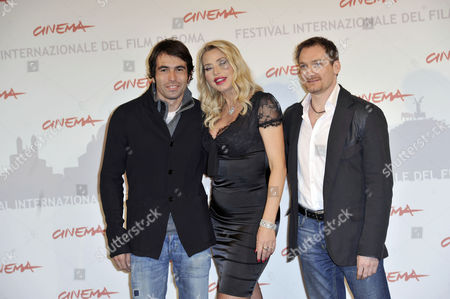 Director Christian Molina, Valeria Marini, Ben Temple