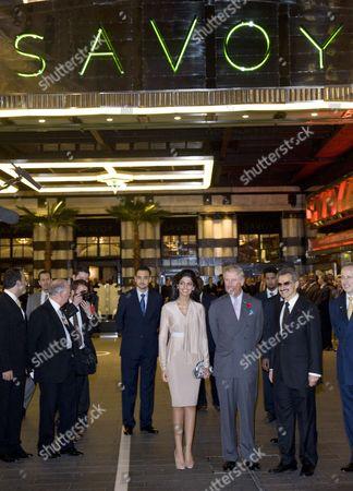 Prince Al-Waleed bin Talal and his wife Princess Amira of Saudi Arabia and Prince Charles