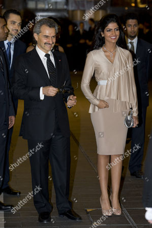 Prince Al-Waleed bin Talal and his wife Princess Amira of Saudi Arabia