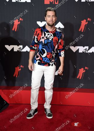 Lance Bass arrives at the MTV Video Music Awards at Barclays Center, in New York