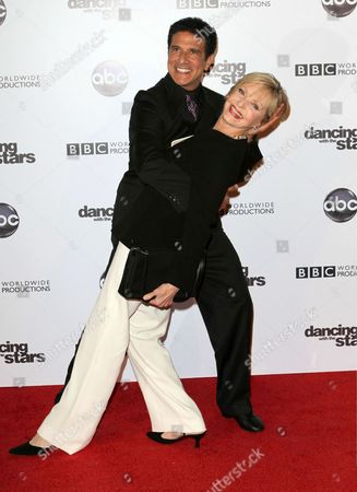 Corky Ballas and Florence Henderson