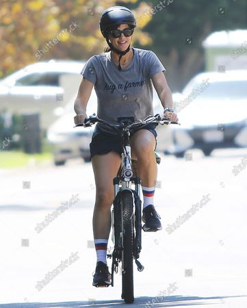 Editorial picture of Jennifer Garner goes for a bike ride with Samuel Affleck, Los Angeles, California, USA - 12 Sep 2021