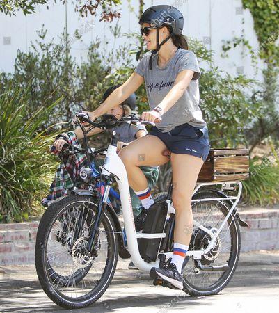 Editorial image of Jennifer Garner goes for a bike ride with Samuel Affleck, Los Angeles, California, USA - 12 Sep 2021