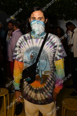 Stock Picture of Jared Leto at the Staud show as part of New York Fashion Week
