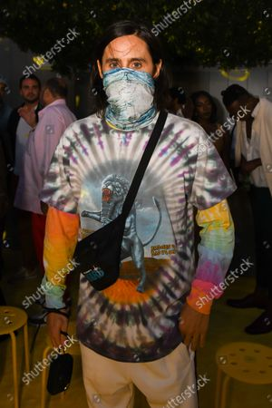 Stock Image of Jared Leto at the Staud show as part of New York Fashion Week