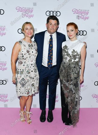 Rachel Shane, Michael Showalter, Jessica Chastain, attend 'The Eyes of Tammy Faye' - TIFF World Premiere - Cocktail Reception presented by Audi Canada during the Toronto International Film Festival in Toronto, September 12, 2021