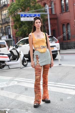 Editorial picture of Street Style, Spring Summer 2022, New York Fashion Week, New York, USA - 12 Sep 2021