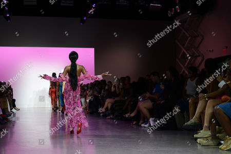 Stock Picture of Azealia Banks on the catwalk