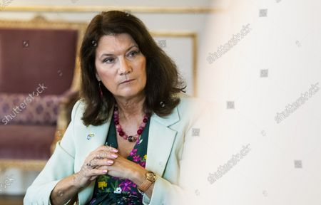 The Minister for Foreign Affairs Ann Linde photographed during an interview in her office in Stockholm, Sweden, September 10, 2021.