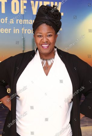 Stock Image of NaTasha Yvette Williams arrives at the Broadway opening for Pass Over, held at the August Wilson Theatre, on September 12, 2021, in New York City.