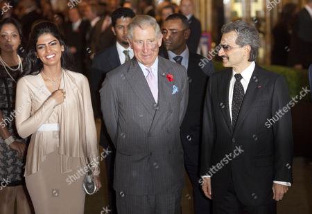 Princess Amira of Saudi Arabia, Prince Charles and Prince Al-Waleed bin Talal