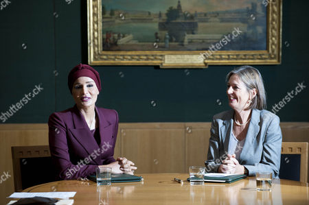 Editorial image of Sheikha Mozah Bint Nasser Al-Missned, Chairperson of Qatar Foundation at the British Library, London, Britain - 28 Oct 2010