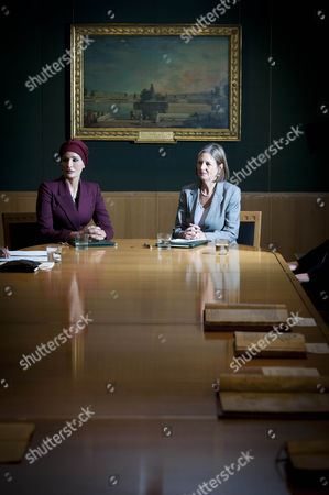 Her Highness Sheikha Mozah Bint Nasser Al Missned, Chairperson of Qatar Foundation and Baroness Tessa Blackstone, Chairman of the British Library
