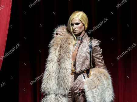 Stock Image of Phillipe Blond walks runway at The Blonds SS22 fashion show during New York Spring/Summer 2022 Fashoin week at Edition hotel