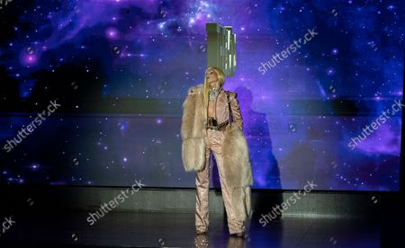 Phillipe Blond walks runway at The Blonds SS22 fashion show during New York Spring/Summer 2022 Fashoin week at Edition hotel