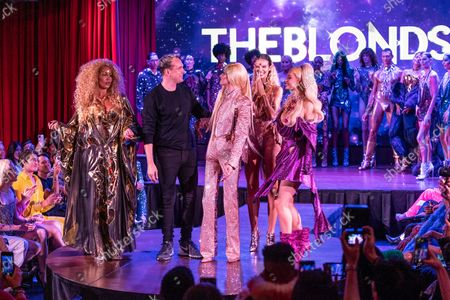 Finale of The Blonds SS22 fashion show during New York Spring/Summer 2022 Fashoin week at Edition hotel. Lion Babe, David Blond, Phillipe Blond, Bodine and Paris Hilton on the foreground.