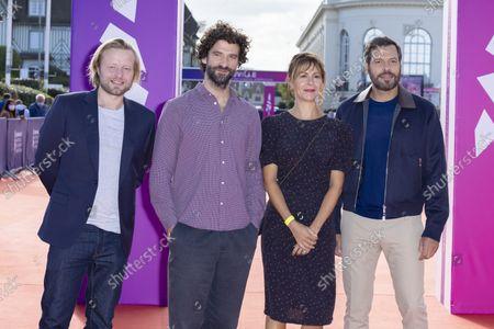 Stock Photo of Stephane Varupenne (L), Sebastien Pouderoux (2L), Christophe Honore (C), Florence Viala (2R), and Laurent Lafitte (R)