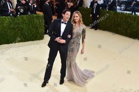 Stock Photo of Adrien Brody and Georgina Chapman