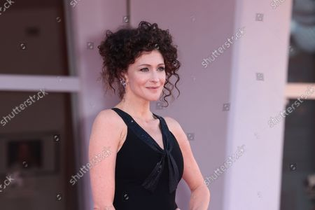 Kseniya Rappoport attend the red carpet of the movie 'America Latina' during the 78th Venice International Film Festival on September 09, 2021 in Venice, Italy.