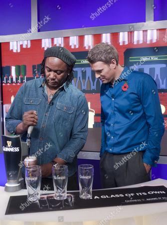 Dan Lobb watches Reginald D Hunter pour a pint of Guinness