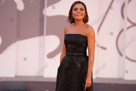 Stock Picture of Antonia Truppo attends the red carpet of the movie 'Qui Rido Io' during the 78th Venice International Film Festival on September 07, 2021 in Venice, Italy