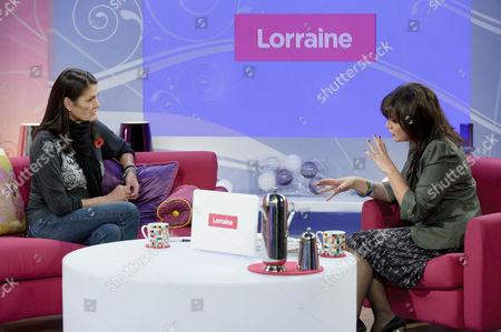 Barbara McQueen and Presenter Lorraine Kelly