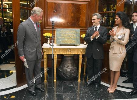 Prince Charles, Prince Al-Waleed bin Talal and wife Princess Amira of Saudi Arabia