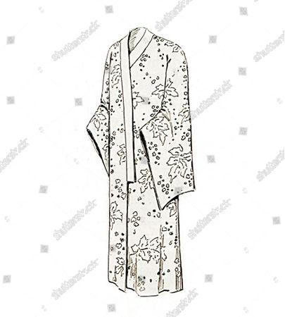 Stock Photo of Vogue's Weekly Pattern - No. 197, Man's Kimono.