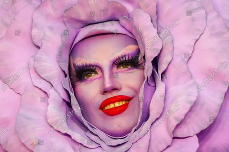 Stock Photo of Spanish drag performer Choriza May (Adrian Martin) attends the 'Everybody's Talking About Jamie' film premiere at the Royal Festival Hall in London, Britain, 13 September 2021. The film is due to be released in Britain from 17 September 2021.