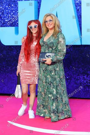 British television actress Tracy-Ann Oberman and her daughter Anoushka attend the 'Everybody's Talking About Jamie' film premiere at the Royal Festival Hall in London, Britain, 13 September 2021. The film is due to be released in Britain from 17 September 2021.