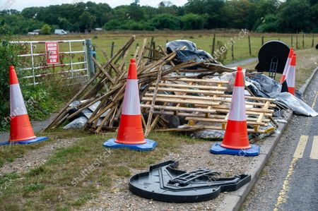 Editorial picture of Illegal fly tipping, Denham, Buckinghamshire, UK - 13 Sep 2021