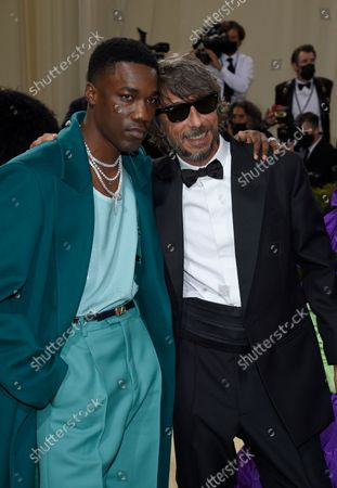 """Giveon, left, and Pierpaolo Piccioli attendThe Metropolitan Museum of Art's Costume Institute benefit gala celebrating the opening of the """"In America: A Lexicon of Fashion"""" exhibition, in New York"""