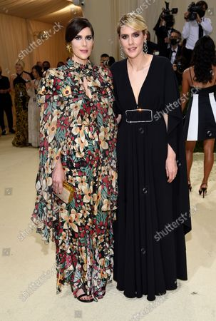 """Laura Mulleavy, left, Kate Mulleavy attend The Metropolitan Museum of Art's Costume Institute benefit gala celebrating the opening of the """"In America: A Lexicon of Fashion"""" exhibition, in New York"""