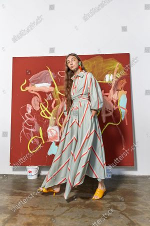 Editorial picture of Ready to wear summer 2022, New York, USA, Tanya Taylor - 08 Sep 2021