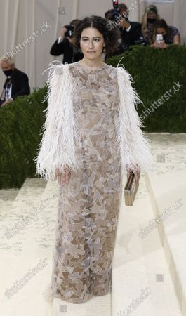 Ilana Glazer poses on the red carpet for the 2021 Met Gala, the annual benefit for the Metropolitian Museum of Art's Costume Institute, in New York, New York, USA, 13 September 2021. The event coincides with the Met Costume Institute's first two-part exhibition, 'In America: A Lexicon of Fashion' which opens 18 September 2021, to be followed by 'In America: An Anthology of Fashion' which opens 05 May 2022 and both conclude 05 September 2022.
