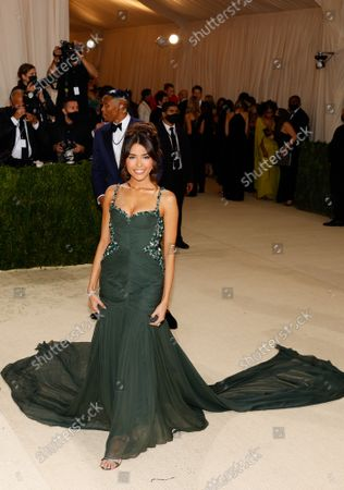 Madison Beer arrives for The Met Gala at The Metropolitan Museum of Art celebrating the opening of In America: A Lexicon of Fashion in New York City on Monday, September 13, 2021.