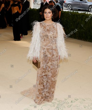Ilana Glazer arrives on the red carpet for The Met Gala at The Metropolitan Museum of Art celebrating the opening of In America: A Lexicon of Fashion in New York City on Monday, September 13, 2021.