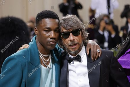 Pierpaolo Piccioli (R) and Giveon (L) pose upon arrival for the 2021 Met Gala, the annual benefit for the Metropolitan Museum of Art's Costume Institute, in New York, New York, USA, 13 September 2021 (issued 14 September 2021). The event coincides with the Met Costume Institute's first two-part exhibition, 'In America: A Lexicon of Fashion' which opens 18 September 2021, to be followed by 'In America: An Anthology of Fashion' which opens 05 May 2022 and both conclude 05 September 2022.