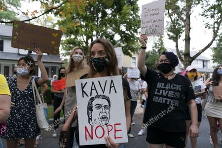 Abortion rights demonstrators rally outside the home of Supreme Court Justice Brett Kavanaugh, in Chevy Chase, Md., after a high-profile decision earlier this month in which the court by 5-4 vote declined to step in to stop a Texas law banning most abortions from going into effect, prompting outrage from abortion rights groups and President Joe Biden