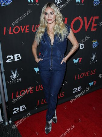 Stock Image of Actress Cassie Scerbo arrives at the Los Angeles Premiere Of Vision Films' 'I Love Us' held at the Harmony Gold Theater on September 13, 2021 in Hollywood, Los Angeles, California, United States.