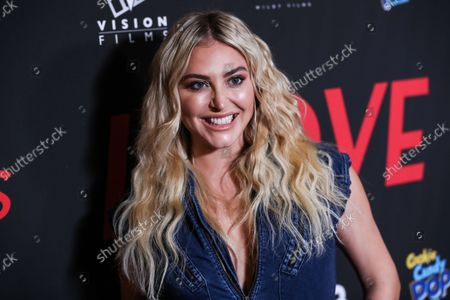 Stock Photo of Actress Cassie Scerbo arrives at the Los Angeles Premiere Of Vision Films' 'I Love Us' held at the Harmony Gold Theater on September 13, 2021 in Hollywood, Los Angeles, California, United States.