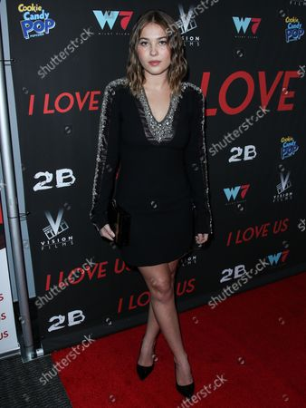 Actress Jasper Polish arrives at the Los Angeles Premiere Of Vision Films' 'I Love Us' held at the Harmony Gold Theater on September 13, 2021 in Hollywood, Los Angeles, California, United States.