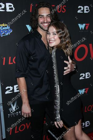 James Robert Brookes and girlfriend/actress Jasper Polish arrive at the Los Angeles Premiere Of Vision Films' 'I Love Us' held at the Harmony Gold Theater on September 13, 2021 in Hollywood, Los Angeles, California, United States.