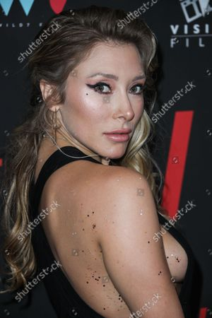 Stock Photo of Actress Alexandra Vino arrives at the Los Angeles Premiere Of Vision Films' 'I Love Us' held at the Harmony Gold Theater on September 13, 2021 in Hollywood, Los Angeles, California, United States.