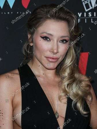 Actress Alexandra Vino arrives at the Los Angeles Premiere Of Vision Films' 'I Love Us' held at the Harmony Gold Theater on September 13, 2021 in Hollywood, Los Angeles, California, United States.