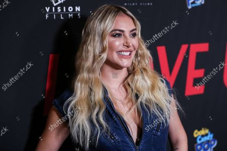 Actress Cassie Scerbo arrives at the Los Angeles Premiere Of Vision Films' 'I Love Us' held at the Harmony Gold Theater on September 13, 2021 in Hollywood, Los Angeles, California, United States.