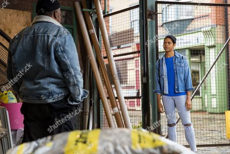 Coronation Street - Ep 10436 Wednesday 22nd September 2021 - 1st Ep  As Grace, as played by Kate Spencer, packs to leave she hands Ed Bailey, as played by Trevor Michael Georges, a snagging list of things she wants done around the new house, claiming if he doesn't sort it they won't see Glory again.